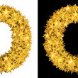 Stock Photo: Gold shiny stars letter O
