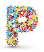 賭けて明るい着色された休日の星からの手紙 p — ストック写真