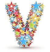 賭けて明るい着色された休日の星からの手紙 v — ストック写真