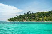 Tropic sea island view — Stock Photo