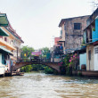 Bangkok river canal boondocks — Stock Photo