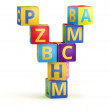 Letter Y maked from abc cubes — Foto de Stock