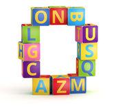число 0 цветовым из abc кубов — Стоковое фото