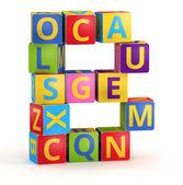 Letter b markeerde van abc kubussen — Stockfoto