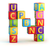 Letter N maked from abc cubes — Stock Photo