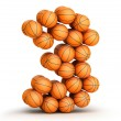 Number 3 basketball — Stock Photo