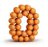 Number 0 basketball — Stock Photo
