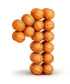 Number 1 basketball — Stock Photo
