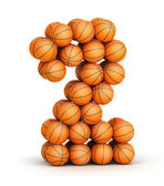 Number 2 basketball — Stock Photo