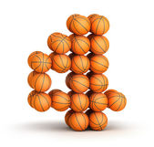 Number 4 basketball — Stock Photo