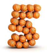 Number 5 basketball — Stock Photo