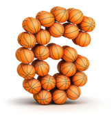Number 6 basketball — Stock Photo