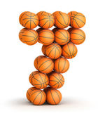 Number 7 basketball — Stock Photo