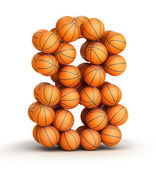Number 8 basketball — Stock Photo