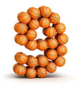 Number 9 basketball — Stock Photo