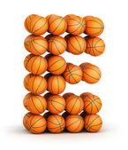 Letter E basketball — Stock Photo