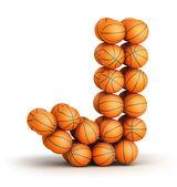 Letter J basketball — Stock Photo
