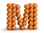 Letter M basketball — Stock Photo