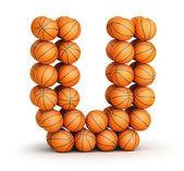 Letter U basketball — Stock Photo