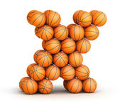 Letter X basketball — Stock Photo