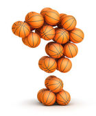Question mark basketball — Stock Photo