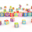 Education spelled by abc cubes — Stock Photo #24909141