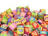 ABC cube pile — Stock Photo