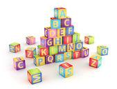A, b, c cubos pyramide — Foto de Stock