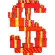 Dollar sign from gifts — Stock Photo #25130373