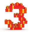 Numbers from gifts - Stock Photo