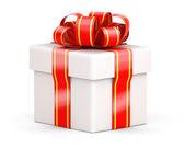White gift box — Stock Photo