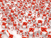 Many gift boxes — Stock Photo