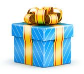 Sqaure gift box — Stock Photo