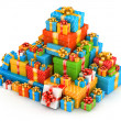 Gift boxes pyramid — Stock Photo #25703755