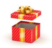 Opened white gift box — Stock Photo