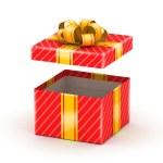 Opened white gift box — Stock Photo #25980111