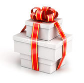 Bundle gift boxes — Stock Photo