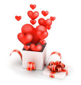 Love in gift box — Stock Photo