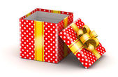 Opened red gift box — Stock Photo