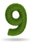 Numero di erba naturale 9 — Foto Stock