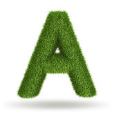 Natural grass letter A — Stock Photo