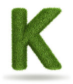 Natural grass letter K — Stock Photo
