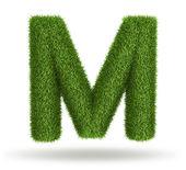 自然な草の手紙 m — ストック写真