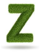 Doğal çim harf z — Stok fotoğraf