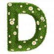 Natural grass letter D — Stock Photo #27793529