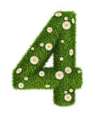 Numero di erba naturale 4 — Foto Stock