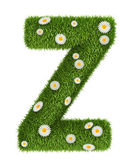 Natural grass letter Z — Stock Photo