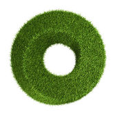 Green grass abstract shape donut — Stock Photo