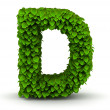 Stock Photo: Leaves font letter D
