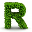 Stock fotografie: Leaves font letter R